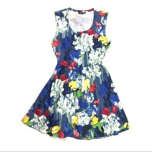 Kate Spade Saturday Open Back Painted Floral Dress